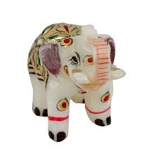this handicraft rajasthani meenakari elephant is made of pure
