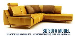 3d Sofa L Shaped Modern Sofa By Alchymista 3docean