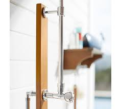 Outdoor Showers Fixtures - outdoor shower u0026 wall mount shower shelf pottery barn
