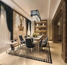Custom  Mirror Tile Dining Room Interior Design Decoration Of - Dining room tile
