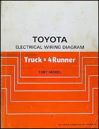 1987 toyota truck u0026 4runner wiring diagram manual original