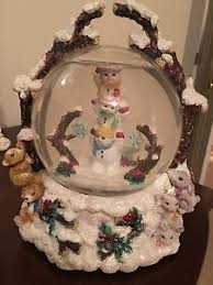 christopher radko limited large musical snow globe we wish you a