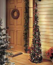 slim prelit christmas tree ebay