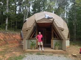 geodesic dome home interior touring a tiny home and geodesic dome home tinydawghouse