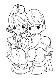 stunning precious moments outline 609 best coloring pages images