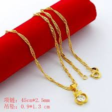 aliexpress buy new arrival fashion 24k gp gold new arrival fashion 24k gp gold plated necklace mens women