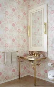 Powder Room Decorating Ideas Powder Room Decorating Ideas With Floral Wallpaper Powder Room