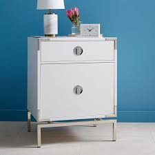 malone campaign nightstand white lacquer west elm