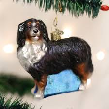 bernese mountain glass ornament big gentle dogs