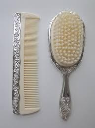 vintage comb godinger silver comb brush vanity set vintage by leadmeaway