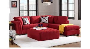 Cindy Crawford Rugs 1 799 99 Calvin Heights Cardinal 3 Pc Sectional Living Room