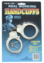 handcuffs and police badge