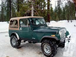dark green jeep cj7