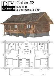 simple log cabin floor plans maybe widen second for bunks or add a loft space with small beds