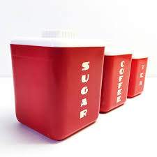 red kitchen canisters free tupperware one touch reminder canister