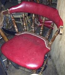 Antique Captains Chair Vintage Captains Chair With Padded Seat Gillette Restaurant