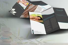 design haven serenity spa trifold brochure template