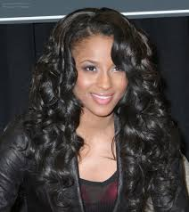 ciara wearing her hair very long with curls