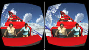 vr real winter roller coaster simulator 2016 free by a v logix