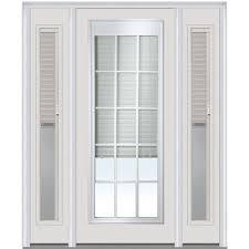exterior doors with blinds between glass mmi door 64 in x 80 in grilles between glass right hand full