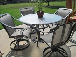 Patio Table Set Iron Patio Table Chairs Wooden And Small Delectable Large