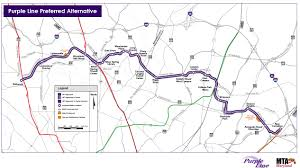 Washington Dc Airports Map Officials Break Ground On Long Awaited Purple Line Project