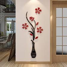 Vase Wall Decor Amazon Com 3d Vase Wall Murals For Living Room Bedroom Sofa