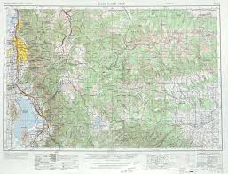 Topographical Map Of United States by Salt Lake City Topographic Map Sheet United States 1970 Full Size