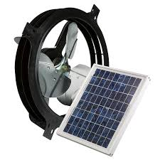 shop air vent 17 875 in dia solar gable vent fan at lowes com