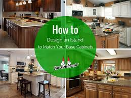 should your kitchen island match your cabinets how to design an island to complement your base cabinets