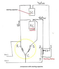 single phase motor wiring diagram with capacitor start floralfrocks