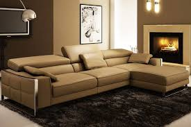 Modern Leather Sleeper Sofa Modern Leather Sectional Sofa Flavio Leather Sectionals