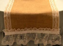 Burlap Lace Table Runner Diy Burlap And Lace Table Runner My Love Of Style U2013 My Love Of Style