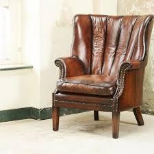 Upholstered Living Room Chairs Living Room Contrast Upholstery Beardsley Chair In Full Grain