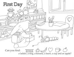 free printable first day of coloring pages for kindergarten