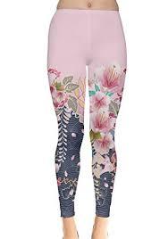 light pink leggings womens cowcow womens colourful sakura cherry blossom elegant flower fashion