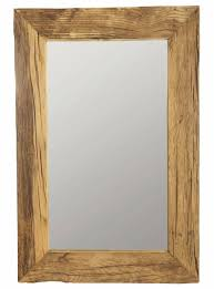 recycled wood housedoctor spiegel met frame recycled wood nature