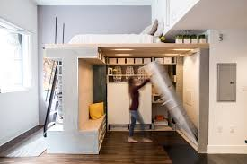 small appartments a space saving loft was designed for this small apartment in san