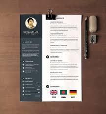 Resume Template Psd Creative Resume Templates Word 28 Minimal Creative Resume