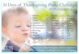 30 days of thanksgiving a photo challenge