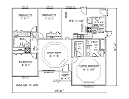 1500 sq ft 4 bedroom house plans pictures to pin on pinterest