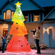 Blow Up Holiday Decorations Giant Inflatable Color Changing Christmas Tree The Green Head