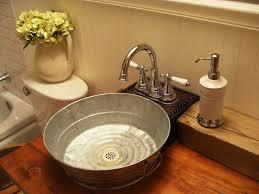 Galvanized Vanity Light Galvanized Tub Sink Bathroom Craftsman With Bathroom Bucket Sink