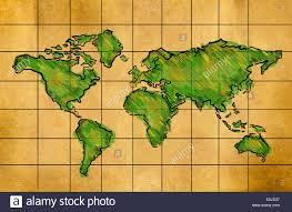 Map Grid Sketch Draw World Map Cartoon Stock Vector Art U0026 Illustration