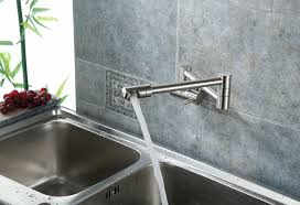 wall mounted double joint kitchen sink faucet