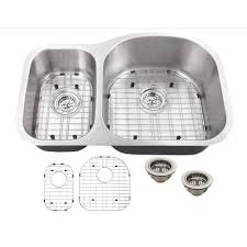 schon all in one undermount stainless steel 32 in double basin