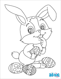 easter bunny coloring glum