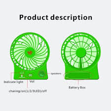 promotional fans china promotional battery operated fans with wireless bluetooth