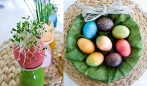 Decorating Easter Boiled Eggs by Easter Egg Colouring Tips And Edible Table Decoration Ideas