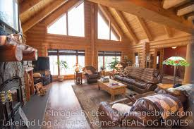 Beautiful Log Home Interiors Beautiful Log Home On Green Lake Lakeland Log And Timber Frame Homes